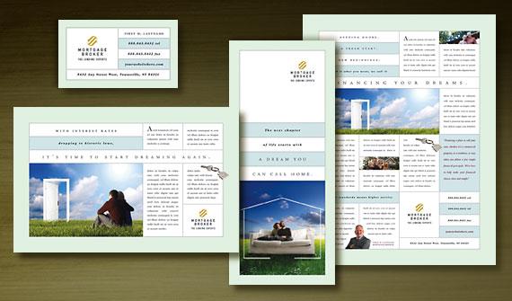 Mortgage Lender Marketing Flyer, Brochure, Postcard, Newsletter & Poster Graphic Designs