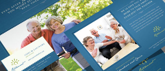 Senior Living Community Brochure, Newsletter, Stationery, and Flyer & Ads Designs