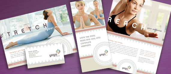 Yoga Instructor Brochure, Postcard, Stationery, Poster and Flyer & Ads Designs