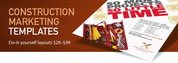 Construction Marketing Brochures Flyers Graphic Designs