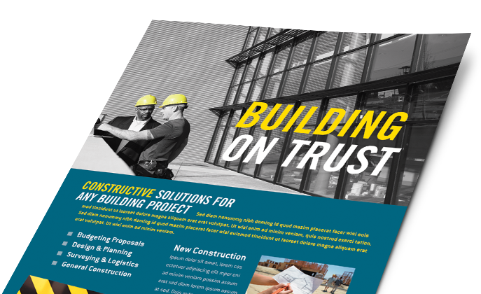 Construction Marketing Materials, Construction Graphic Designs