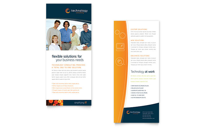 Free Rack Card Template - Business Rack Card Example