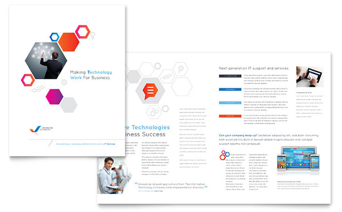Free brochure templates download ready made designs for Technology brochure templates