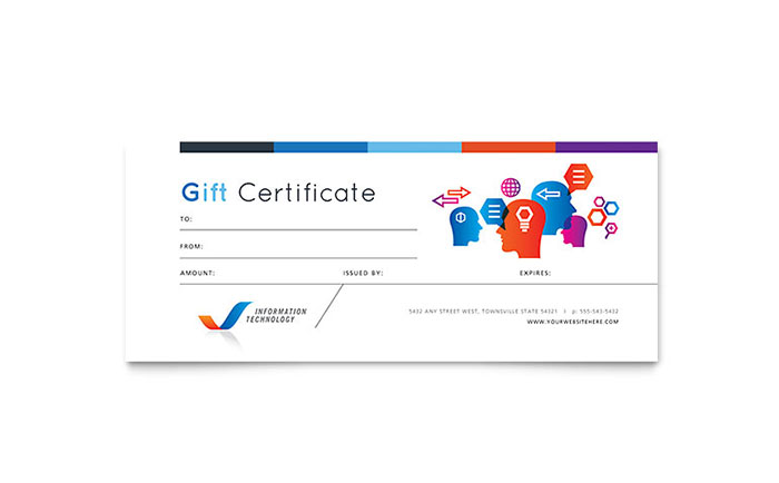 Free Gift Certificate Template   Download Printable Gift Certificate Design