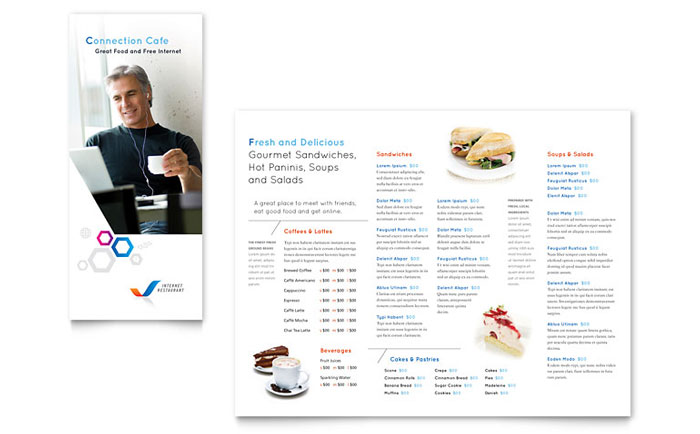 Free Menu Template   Download Menu Design  Free Printable Restaurant Menu Template