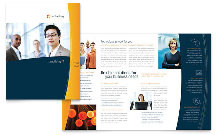 one page brochure template free