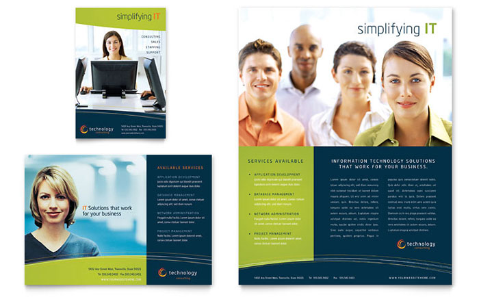 Free Flyer Templates Sample Flyers Examples - 1 page brochure template