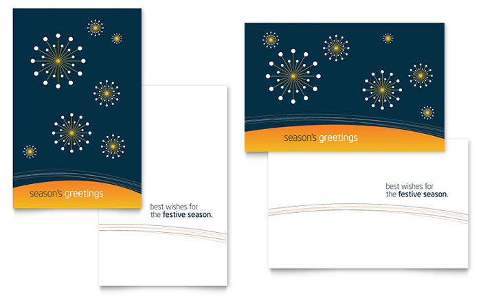 corporate greeting card templates - Opucuk.kiessling.co