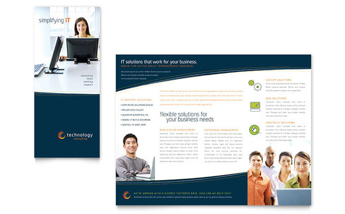 Free TriFold Brochure Templates   Sample Brochures  Examples