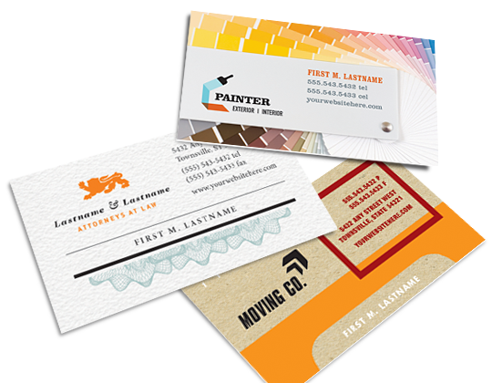 Make a business card design easily customize templates make a business card design create business cards reheart Gallery