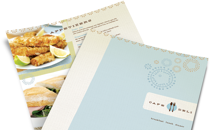 Make a Restaurant Menu Design, Create Menus