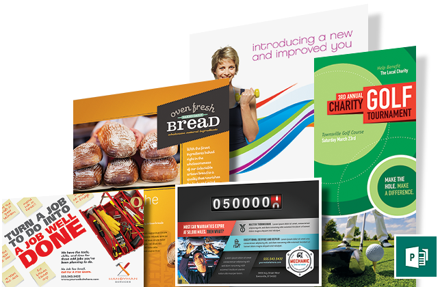 publisher templates layouts brochures flyers newsletters postcards