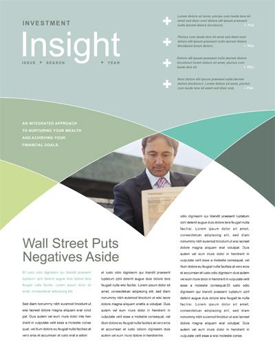 Financial Advisor Newsletter Design