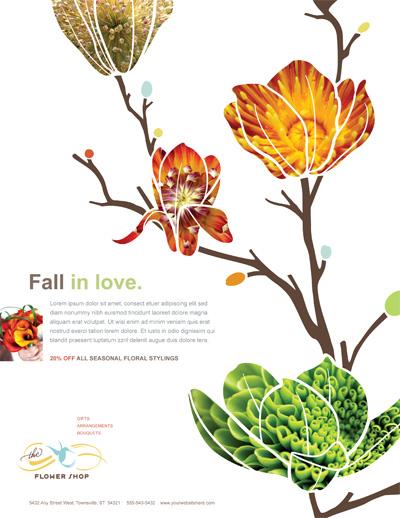 Flower Shop Flyer Design