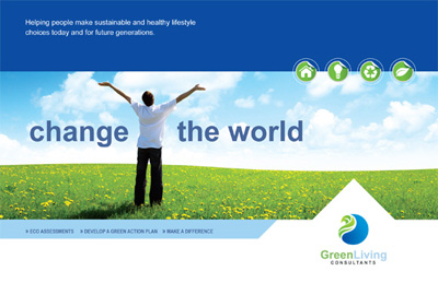 Green Living & Recycling Postcard Design