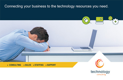 Technology Postcard Design