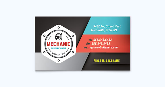 Automotive Business Card Design Idea