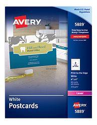 Avery Postcard Paper 5889