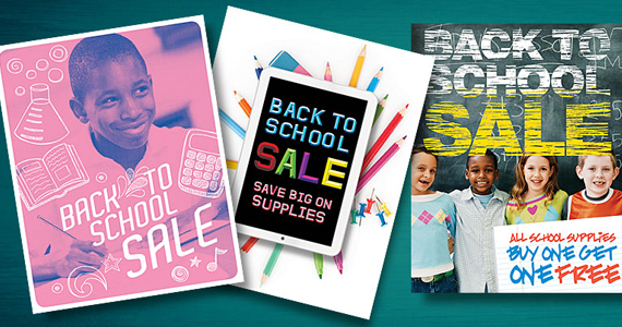 Back to School Retail Sale Posters & Flyers