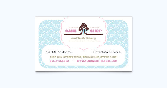 Bake Shop Business Card Design Idea