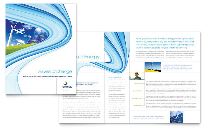 Renewable Energy Brochure Design Idea - Brochure Cover