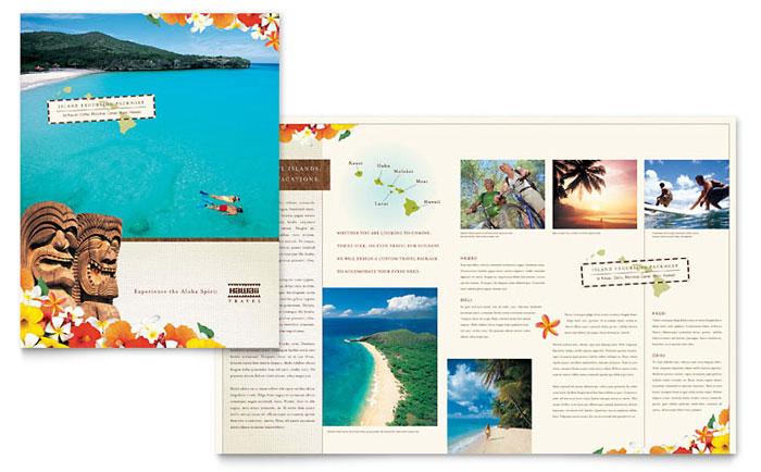 Tropical Travel Brochure Design Idea - Brochure Cover