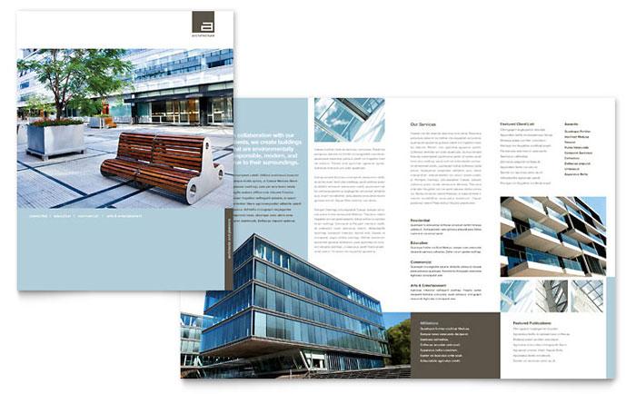 Architect Brochure Design Idea - Brochure Cover