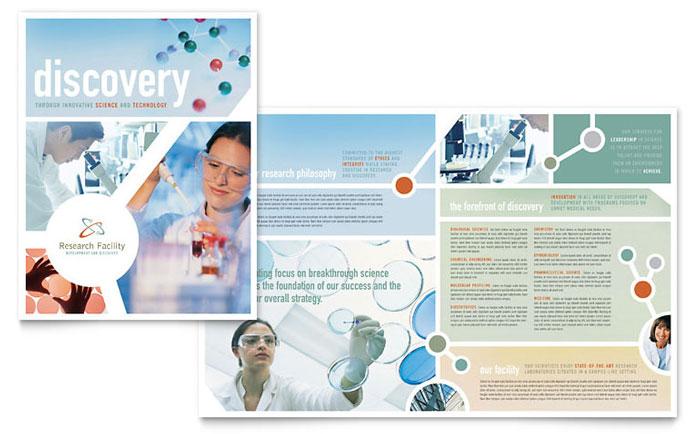 Medical Research Brochure Design Idea - Brochure Cover