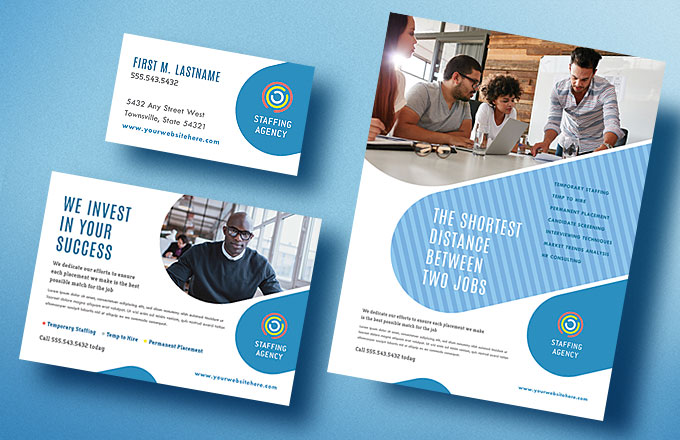 Employment Agency DIY Marketing Materials - Graphic Design Ideas
