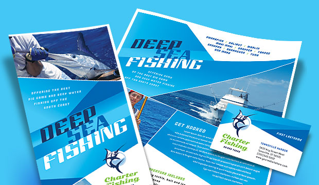 Deep Sea Charter Fishing - Business Marketing Materials