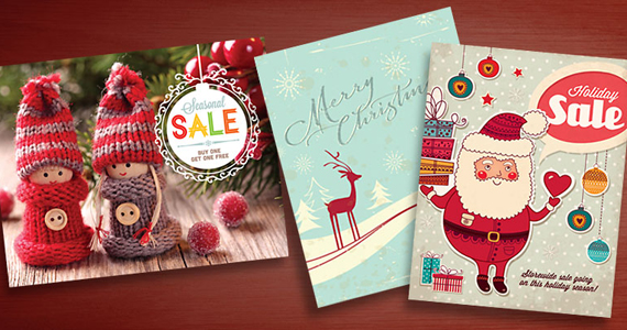 Holiday Retail Sale Poster Designs