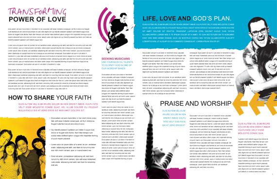Church Ministries Magazine Spread 4