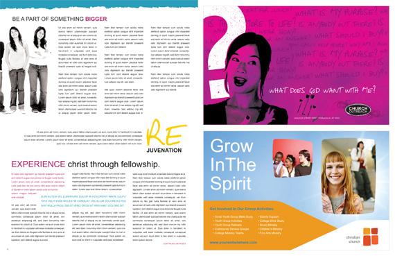 Church Ministries Magazine Spread 3