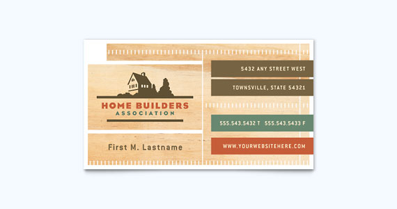 Construction Business Card Design Idea