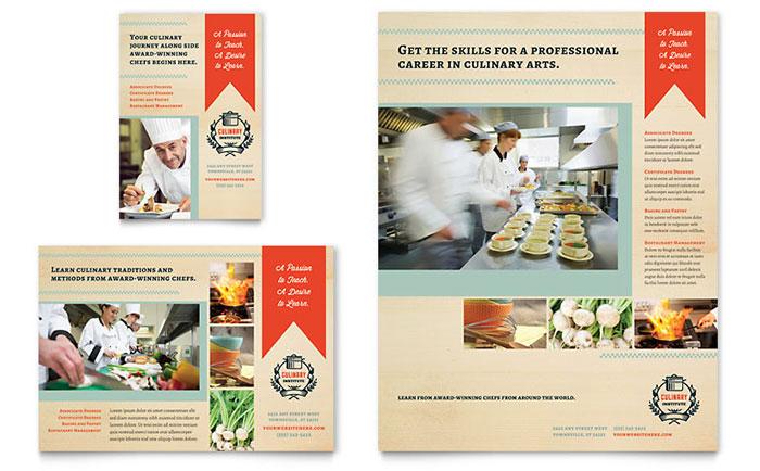 Culinary Arts School - Flyer & Ad Design Example