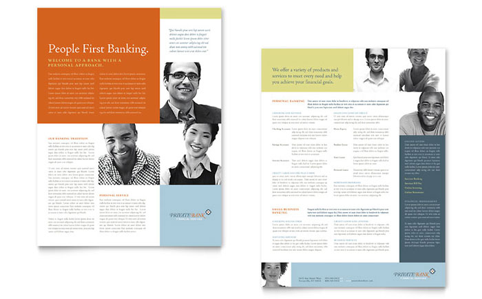 Personal Banking Two Page Brochure Template