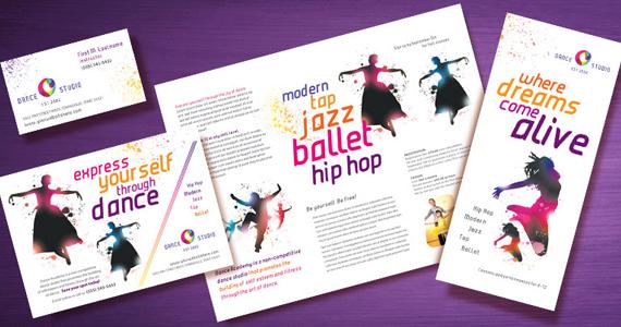 Dance Studio Brochures, Flyers, Postcards