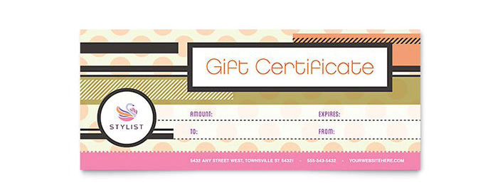 Hair Salon Gift Certificate