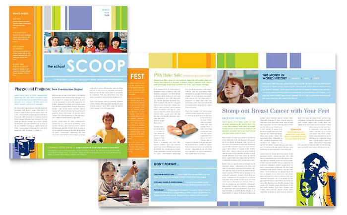 Grade School Classroom Newsletter Design Example