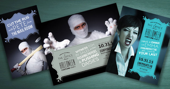 Business Marketing Templates – Halloween Costume Office Party