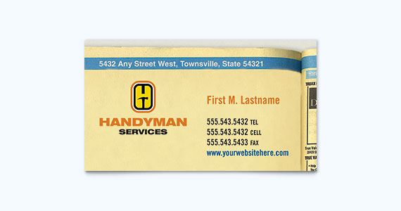 Handyman Business Card Design Idea