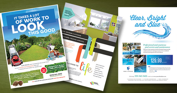 Home Maintenance Marketing Flyers - Landscaping, Pool Service, House Painting