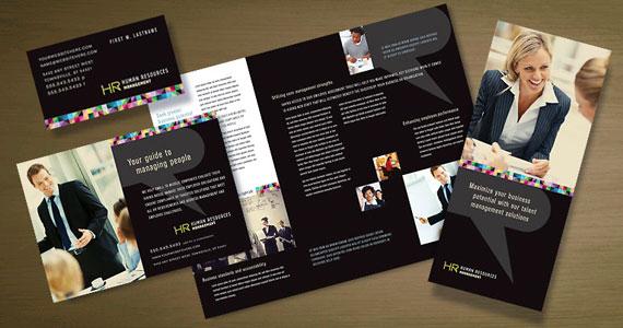 Human Resource Management Brochures, Flyers, Newsletters