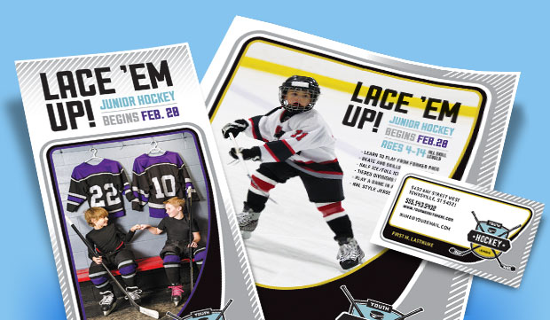 Junior Hockey Camp Marketing Materials - Ice Hockey Camp Brochures, Flyers, Posters