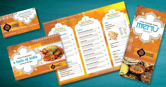 Indian Restaurant - Marketing Materials - Menu, Flyer, Ad, Postcard, Business Card - Design Ideas
