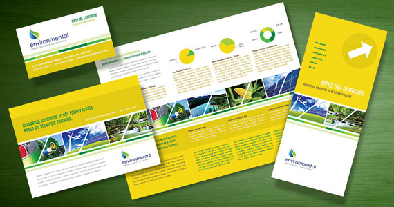 Environmental Conservation Brochures, Flyers, Postcards