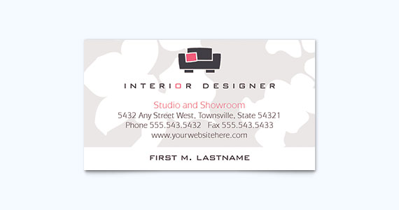 Interior Designer Business Card Design Idea