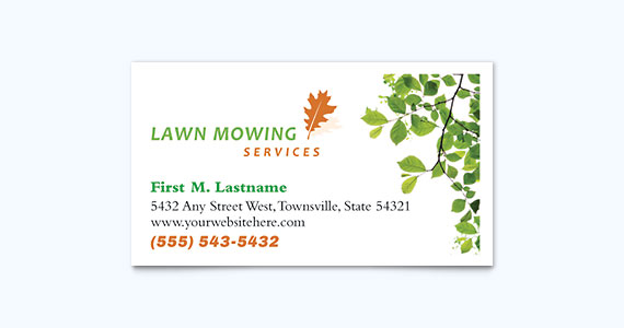 Landscaping Business Card Design Idea