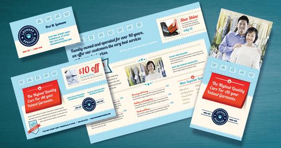 Laundry Services Brochure, Flyer, Postcard Designs