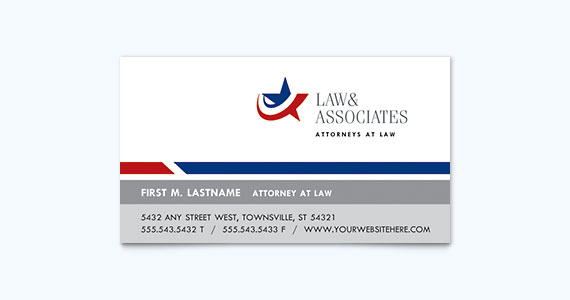 Lawyer Business Card Design Idea